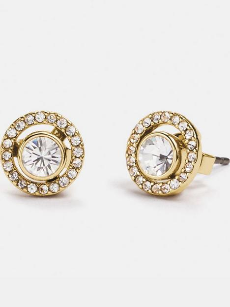 coach-halo-pave-2-in-1-stud-earrings-goldclear