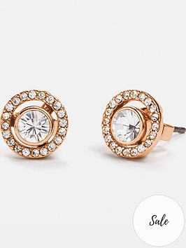 coach-halo-pave-2-in-1-stud-earrings-rose-goldclear