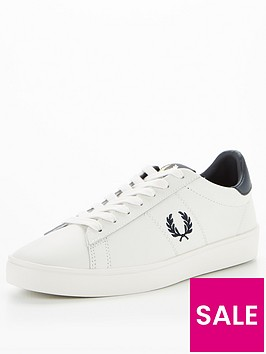 fred-perry-spencer-leather-trainer-white