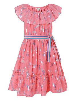 monsoon-girls-flamingo-foil-frill-dress-coral