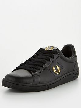 fred-perry-b721-leather-trainer-black