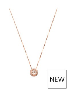 michael-kors-rose-tone-mk-logo-necklace