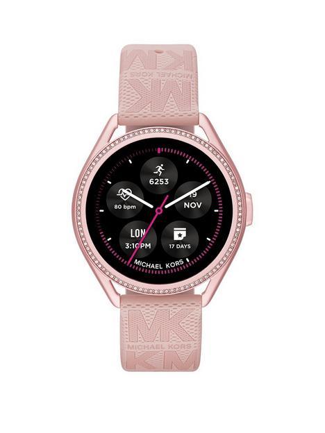 michael-kors-gen-5e-mkgo-smartwatch-blush-rubber
