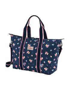 cath-kidston-park-meadow-bunch-foldaway-overnight-bag-navy
