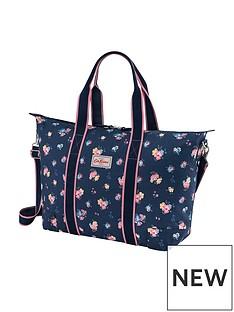 cath-kidston-park-meadow-bunch-foldaway-overnight-bag-navy