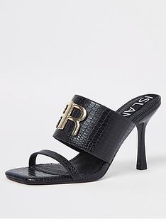 river-island-branded-heeled-mule-black