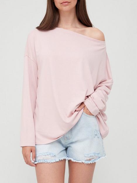 allsaints-rita-long-sleeve-top-pink