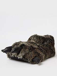 river-island-boys-monster-slipper-grey