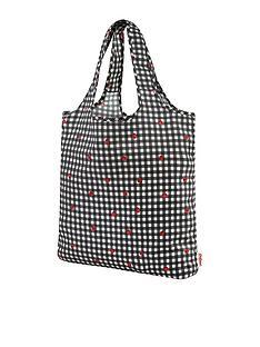 cath-kidston-ladybug-gingham-foldaway-shopper-bag-black