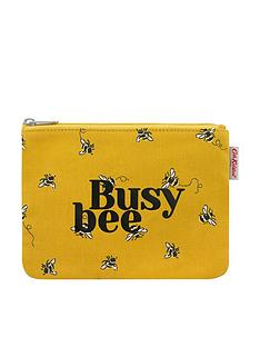 cath-kidston-busy-bee-pouch-purse-yellow