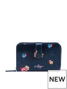 cath-kidston-meadow-bunch-folded-zip-purse-navy