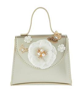 Monsoon Girls Dulcie Daisy Patent Bag - Gold