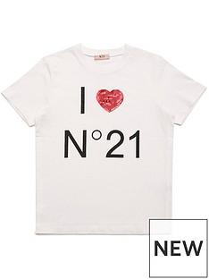 no-21-girls-i-heart-n021-tee-white