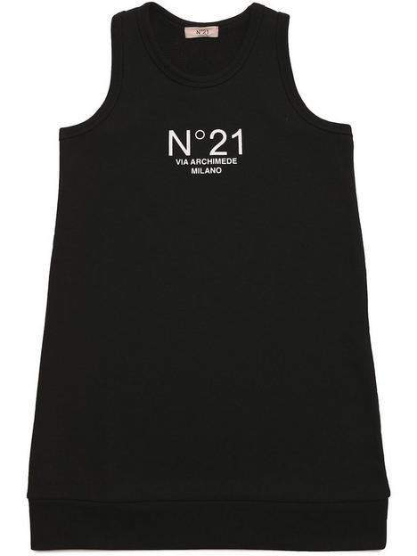 no-21-girls-n021-logo-dress-black