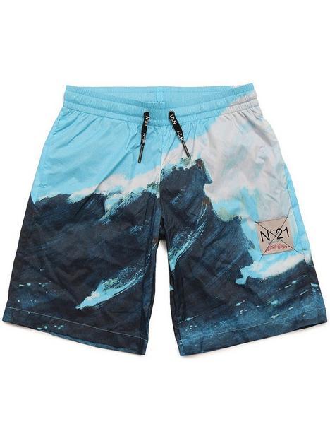 no-21-boys-photo-shorts-multi