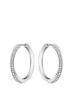 boss-boss-signature-stainless-steel-ladies-crystal-hoop-earrings