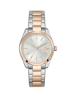 Lacoste Lacoste Parisienne Watch In Gold Plated Stainless Steel With Silver Dial, One Colour, Women