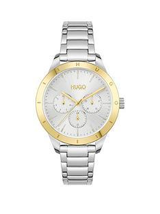 hugo-hugo-friend-silver-white-dial-and-stainless-steel-bracelet-ladies-watch