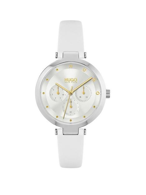 hugo-hugo-hope-multi-silver-white-dial-and-white-leather-strap-ladies-watch