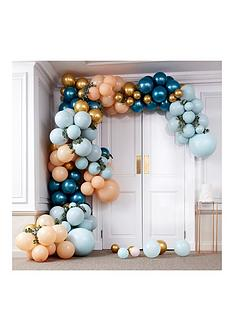 ginger-ray-large-balloon-arch-greens-amp-gold-chrome