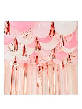 ginger-ray-blush-white-and-rose-gold-balloon-ceiling-with-tassels