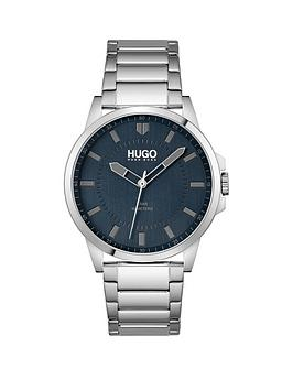 hugo-hugo-first-blue-dial-and-stainless-steel-bracelet-gents-watch