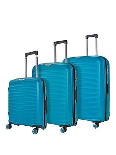 rock-luggage-sunwave-8-wheel-suitcases-3-piece-set-blue