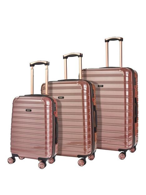 rock-luggage-chicago-8-wheel-suitcases-3-piece-set-rose-pink