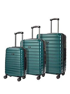 rock-luggage-chicago-8-wheel-suitcases-3-piece-set-green