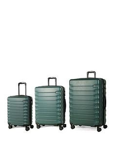 rock-luggage-synergy-8-wheel-suitcases-3-piece-set-forest-green