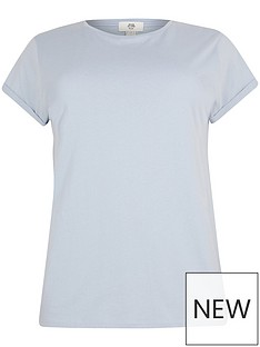 ri-plus-turnback-sleeve-tee-light-blue