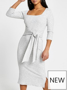 ri-petite-square-neck-tie-waist-jersey-midi-dress-grey-marl