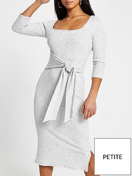 ri-petite-square-neck-tie-waist-jersey-midi-dress-grey-marl