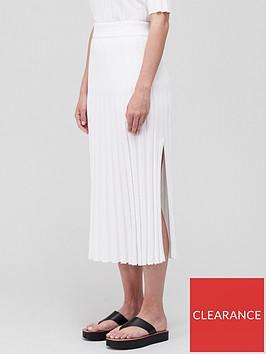 joseph-textured-rib-skirt-off-white