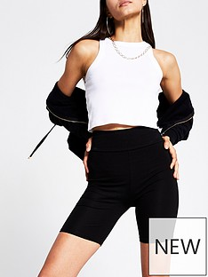 river-island-high-waist-cycling-short-black