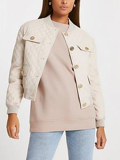 river-island-quilted-pu-bomber-jacket-neutral