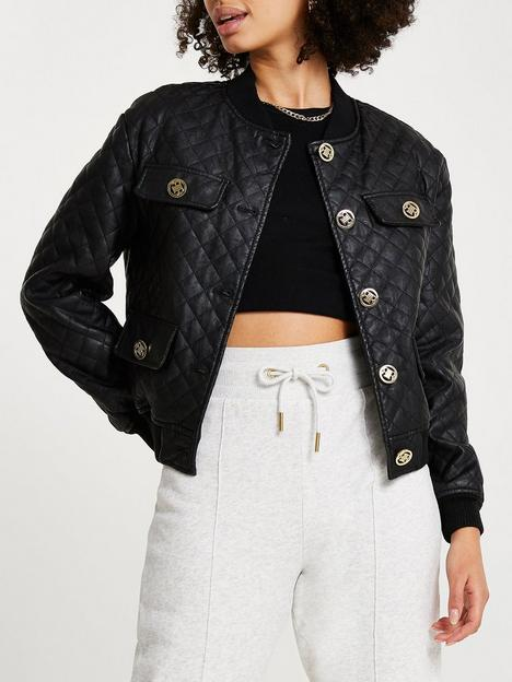 river-island-quilted-pu-bomber-jacket-black
