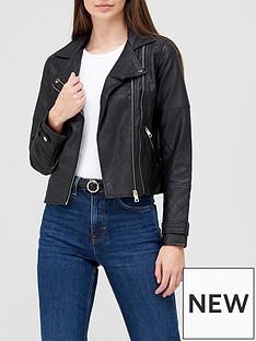 river-island-double-zip-pu-biker-jacket-black