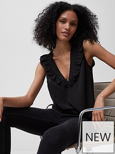 french-connection-french-connection-crepe-light-v-neck-ruffle-top