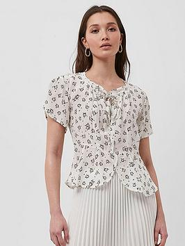 French Connection French Connection Aura Scatter Drpe Gthrd Nck Tp, Multi, Size 8, Women