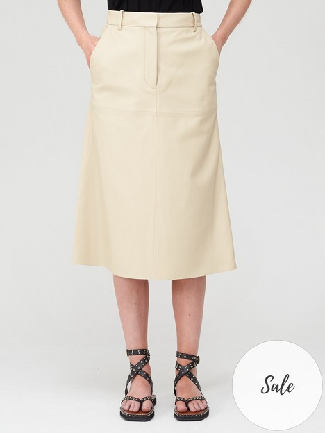 joseph-salva-nappa-leather-skirt-ivory