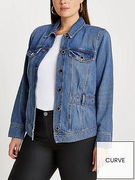 ri-plus-waisted-denim-jacket-blue