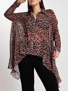 ri-plus-chiffon-frill-leopard-print-shirt-brown