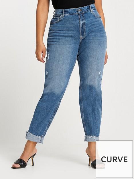 ri-plus-carrie-comfort-sculpt-high-waist-frayed-hem-mom-jean-mid-blue
