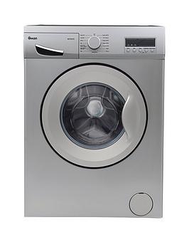 Swan Swansw15831S 8Kg Load, 1200 Spin Washing Machine - Silver