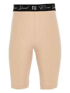 river-island-girls-beige-ri-waistband-cycling-shorts
