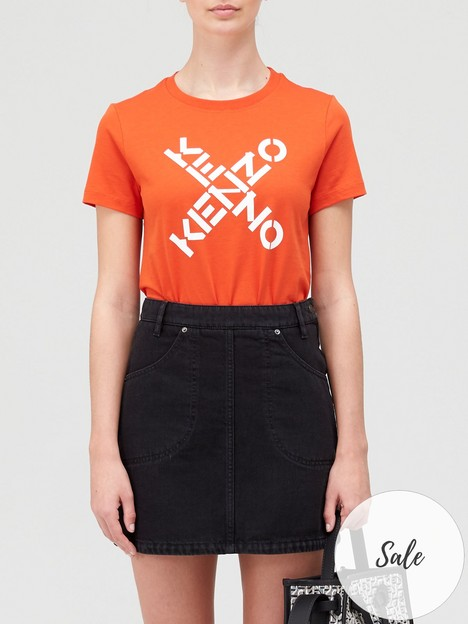 kenzo-sport-classic-logo-t-shirt-red