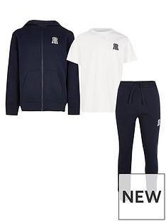 river-island-hoodie-set-navy