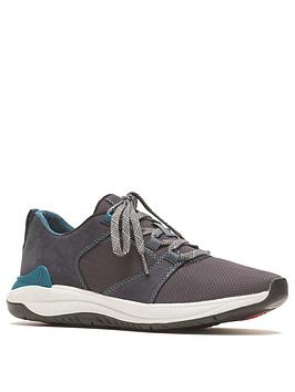 Hush Puppies Basil Pt Lace Up Trainer - Navy