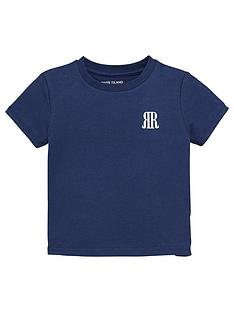 river-island-mini-boys-rvrnbspt-shirt-navy